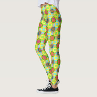 Leggings Geometric #318 Colourful