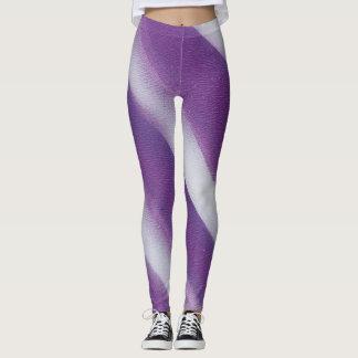 leggings graphic stripe purple