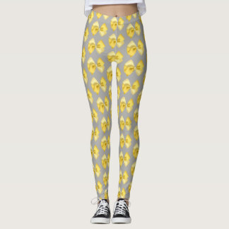 Leggings gray with yellow bows