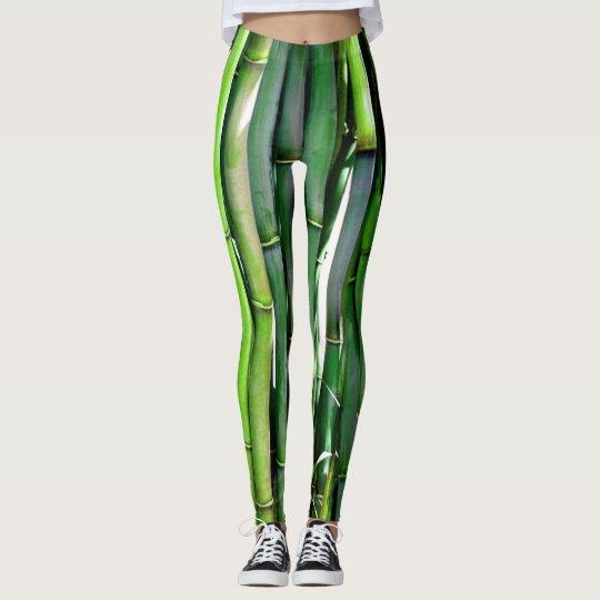 Leggings Green Bamboo Zen Garden Yoga Pants