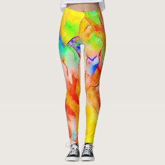 Leggings in vibrant colors for the trendsetter