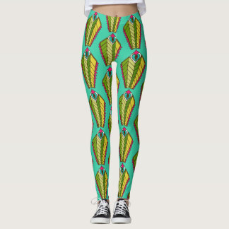 Leggings peacock feathers