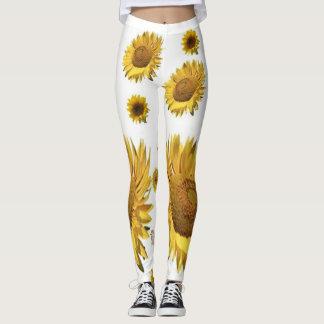 leggings sunflowers