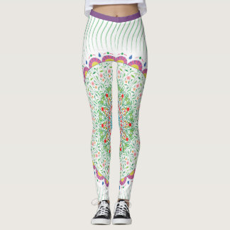 Leggings with colourful mandala design