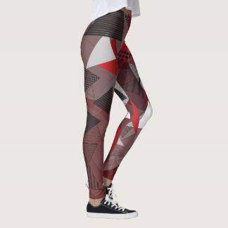 "Leggings with ""Triangles Garnet"" design"