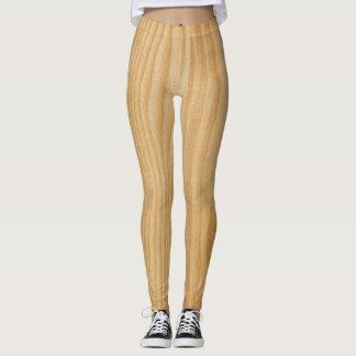 Leggings-wood texture leggings
