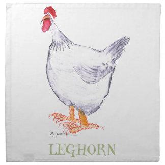LEGHORN HEN, tony fernandes Printed Napkin