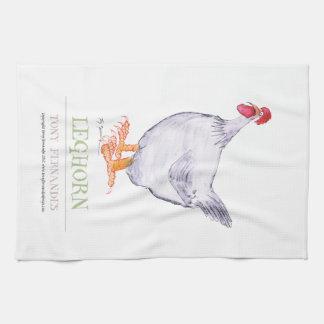 LEGHORN HEN, tony fernandes Tea Towel