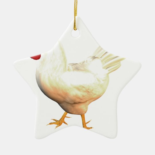 Leghorn Rooster Christmas Ornament