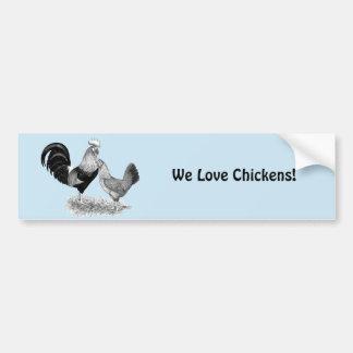 Leghorns Production Brown Chickens Bumper Sticker
