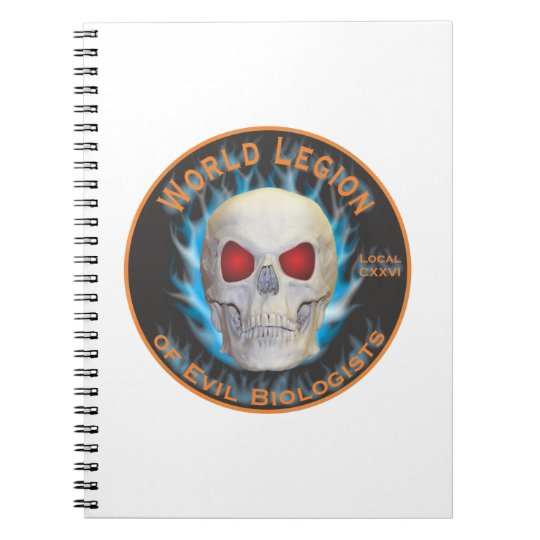 Legion of Evil Biologists Spiral Notebook