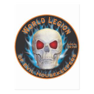 Legion of Evil Housekeepers Postcard
