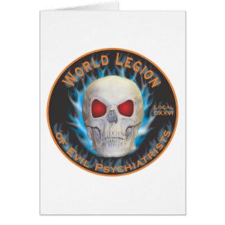 Legion of Evil Psychiatrists Greeting Card