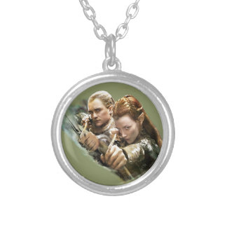 LEGOLAS GREENLEAF™ and TAURIEL™ Graphic Silver Plated Necklace