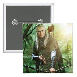 LEGOLAS GREENLEAF™ with bow 15 Cm Square Badge