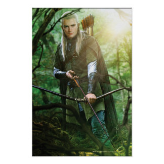 LEGOLAS GREENLEAF™ with bow Poster