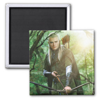 LEGOLAS GREENLEAF™ with bow Square Magnet