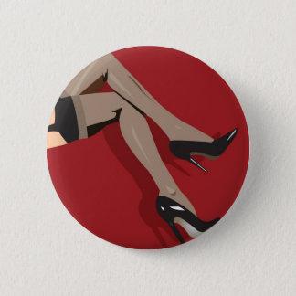 Legs 6 Cm Round Badge