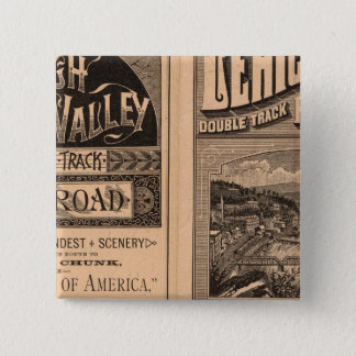 Lehigh Valley Railroad 15 Cm Square Badge