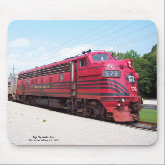 Lehigh Valley Railroad F-7A #578 at Cape May N. J. Mouse Pad