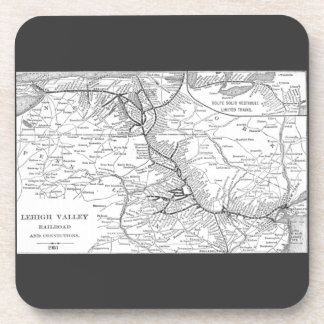 Lehigh Valley Railroad Map 1903 Coaster