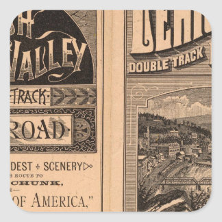 Lehigh Valley Railroad Square Sticker