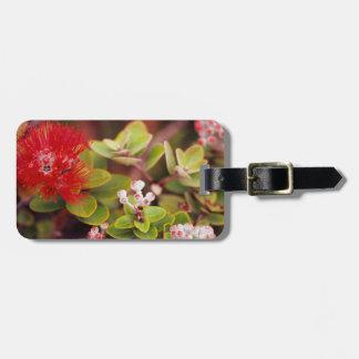 Lehua Blossoms In Hawaii Volcanoes Bag Tag