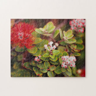 Lehua Blossoms In Hawaii Volcanoes Jigsaw Puzzle