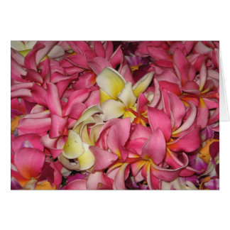Lei Flowers Greeting Card