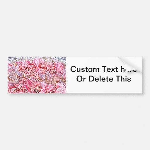 lei sketch pink flowers abstract neat background bumper stickers