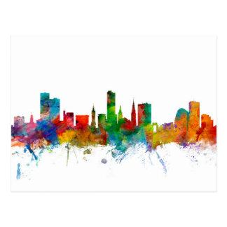 Leicester England Skyline Postcard