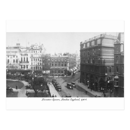 Leicester Square 1904, London England, U.K. Postcard