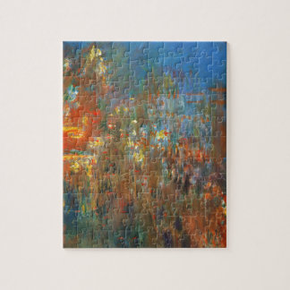 Leicester Square at Night by Claude Monet Jigsaw Puzzle
