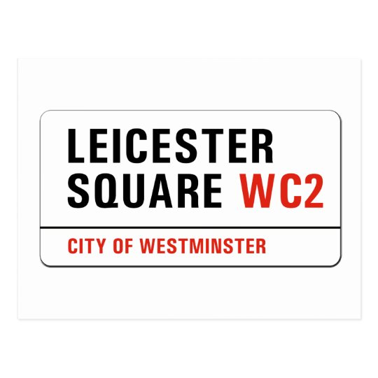 Leicester Square, London Street Sign Postcard