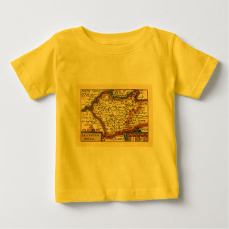 Leicestershire County Map, England Tee Shirts