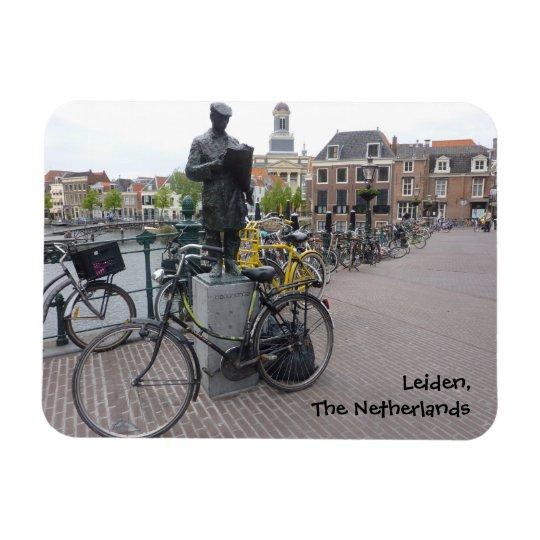Leiden (Statue & Bikes) Rectangular Photo Magnet