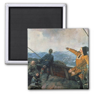 Leif Eriksson  sights land in America, 1893 Magnet