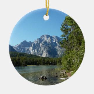Leigh Lake at Grand Teton National Park Christmas Ornament