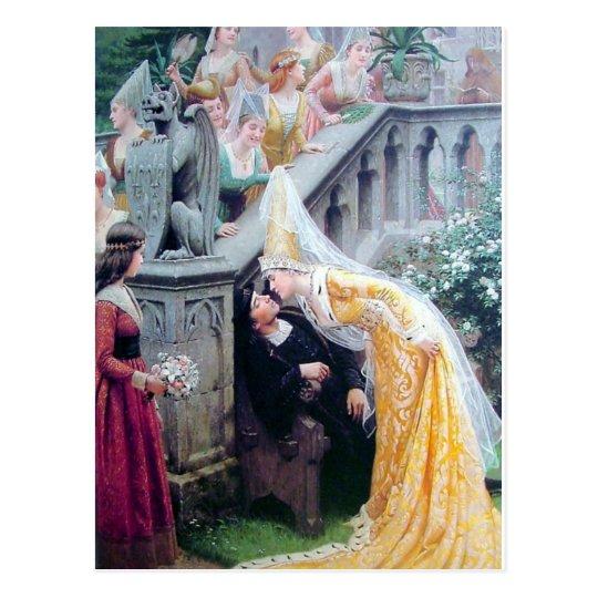 da4489b776b7f leighton the kiss mediaeval woman kissing man postcard