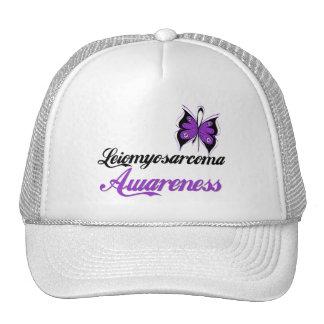Leiomyosarcoma Awareness Butterfly Trucker Hats