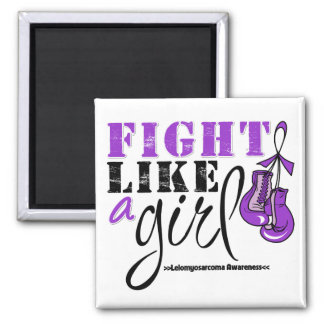 Leiomyosarcoma Awareness Fight Like a Girl Refrigerator Magnet