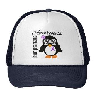 Leiomyosarcoma Awareness Penguin Trucker Hat