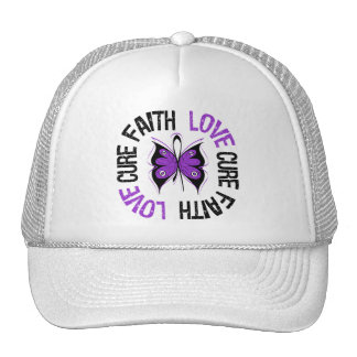 Leiomyosarcoma Cancer Faith Love Cure Mesh Hat