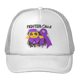 Leiomyosarcoma Cancer Fighter Chick Grunge Mesh Hat