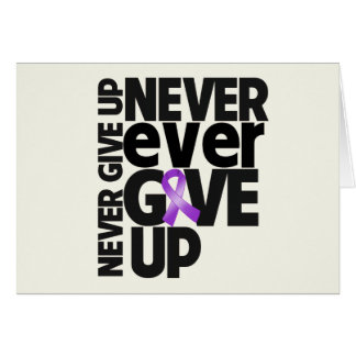 Leiomyosarcoma Cancer Never Ever Give Up Greeting Card