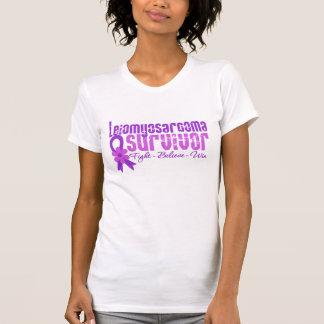 Leiomyosarcoma Cancer Survivor Flower Ribbon T Shirt
