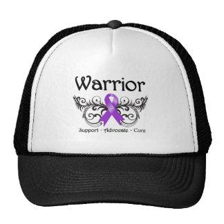 Leiomyosarcoma Cancer Warrior Scroll Mesh Hat