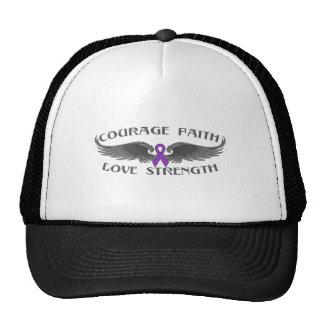 Leiomyosarcoma Courage Faith Wings Trucker Hat