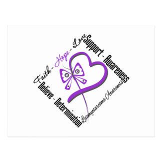 Leiomyosarcoma Faith Hope Love Butterfly Postcard