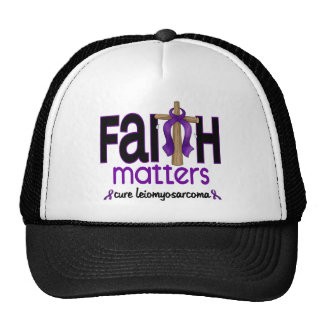 Leiomyosarcoma Faith Matters Cross 1 Mesh Hat